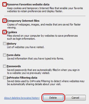 explorer deleting browser history