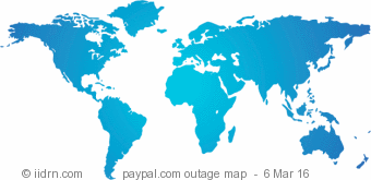 paypal.com outage map