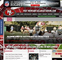 49ers.com screenshot
