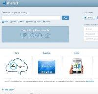 4shared.com screenshot