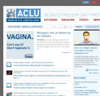 aclu.org screenshot