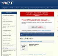 actstudent.org screenshot