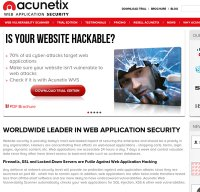 acunetix.com screenshot
