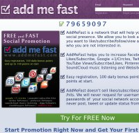 addmefast.com screenshot