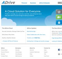 adrive.com screenshot