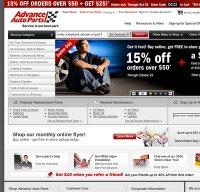 advanceautoparts.com screenshot
