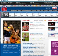 afl.com.au screenshot