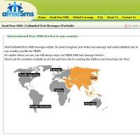 afreesms.com screenshot