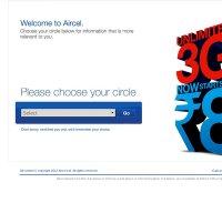 aircel.com screenshot