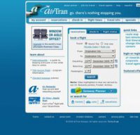airtran.com screenshot