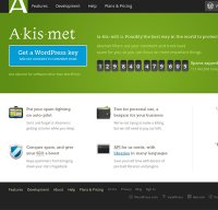 akismet.com screenshot