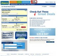 alamo.com screenshot
