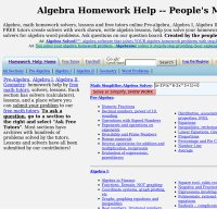 algebra.com screenshot