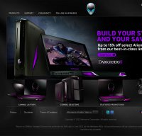 alienware.com screenshot