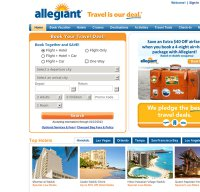 allegiantair.com screenshot