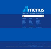 allmenus.com screenshot