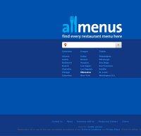 allmenus.com screenshot