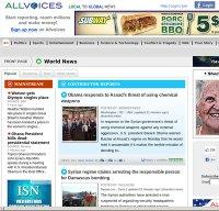 allvoices.com screenshot