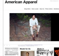 americanapparel.net screenshot