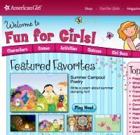 americangirl.com screenshot