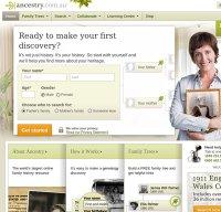 ancestry.com.au screenshot