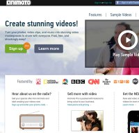 animoto.com screenshot