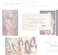 anthropologie.com screenshot