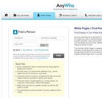 anywho.com screenshot