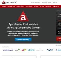 appcelerator.com screenshot