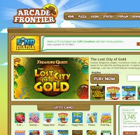 arcadefrontier.com screenshot