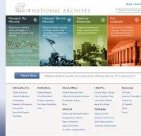 archives.gov screenshot