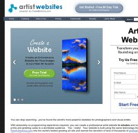 artistwebsites.com screenshot
