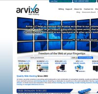 arvixe.com screenshot
