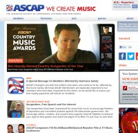 ascap.com screenshot