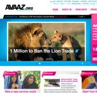 avaaz.org screenshot