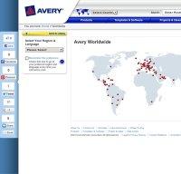 avery.com screenshot