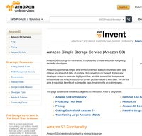 aws.amazon.com screenshot
