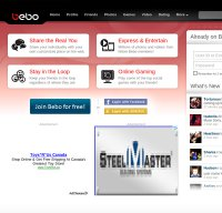 bebo.com screenshot