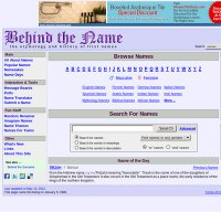 behindthename.com screenshot