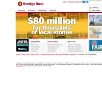 bendigobank.com screenshot