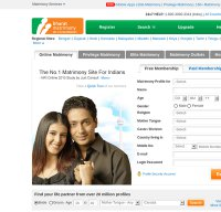 bharatmatrimony.com screenshot