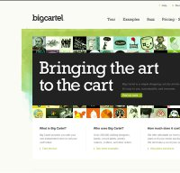 bigcartel.com screenshot