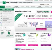 bnpparibas.net screenshot