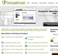 bravehost.com screenshot