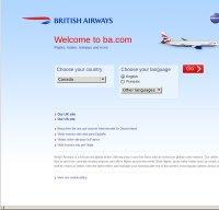 britishairways.com screenshot