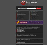 bugmenot.com screenshot