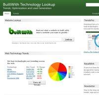 builtwith.com screenshot