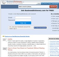 businessdictionary.com screenshot