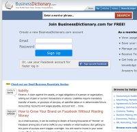 businessdictionary.com screenshot