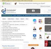 caclubindia.com screenshot